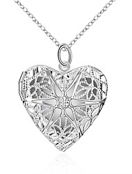 cheap -Men's Women's Pendant Necklace Heart European Fashion Luminous Alloy Silver 45 cm Necklace Jewelry For Wedding Daily Masquerade Engagement Party Prom