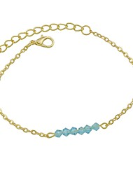 cheap -Anklet Ladies Basic Fashion Women's Body Jewelry For Daily Holiday Imitation Tourmaline Alloy Blue White