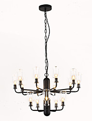 cheap -15-Light ZHISHU 64 cm Mini Style Chandelier Metal Glass Candle-style Electroplated / Painted Finishes Nature Inspired / Chic & Modern 110-120V / 220-240V