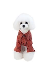 Недорогие -Собаки Комбинезоны Платья Футболки Одежда для собак Красный Хаки Костюм Ткань для подбивки Мультипликация Лозунг Стиль Милый стиль S M L XL XXL