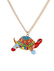 cheap -Men's Pendant Necklace Turtle Animal Rainbow Cartoon Gothic Acrylic Alloy Rainbow 65 cm Necklace Jewelry For Street Valentine