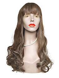 cheap -Synthetic Wig Wavy Layered Haircut Wig Long Brown / White Synthetic Hair Women's Natural Hairline Brown