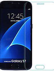 Недорогие -Samsung GalaxyScreen ProtectorS7 Уровень защиты 9H Защитная пленка на всё устройство 2 штs Закаленное стекло