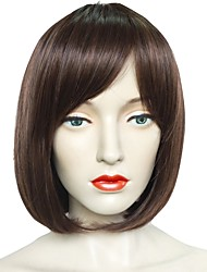 cheap -Synthetic Wig Straight Bob Short Bob Wig Short Brown Synthetic Hair Women's Natural Hairline Brown