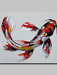 cheap -Mintura® Hand-Painted Fish Animal Oil Painting On Canvas Modern Abstract Wall Art Picture For Home Decoration Ready To Hang