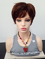 cheap -Synthetic Wig Straight Pixie Cut Side Part Wig Short Brown Synthetic Hair 6 inch Women's Heat Resistant Brown