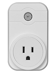 cheap -Smart Socket Scheduled Time Control Your Fixture From Anywhere No-Hub Required Timing Function 1pack 750°C ABS+PC Plug-in iOS Android