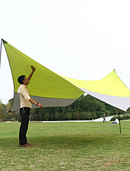 cheap -7 person Camping Shelter Outdoor Windproof Breathability Sun Protection Single Layered Poled Camping Tent 1000-1500 mm for Fishing Beach Picnic Terylene 500*500*240*