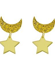 cheap -Women's Drop Earrings Moon Star Ladies Fashion Earrings Jewelry Gold For Gift Date