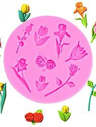 Недорогие -день святого валентина розы цветы в форме помады силиконовые формы торт