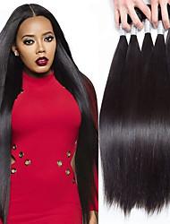 cheap -5 Bundles Peruvian Hair Straight Human Hair Natural Color Hair Weaves / Hair Bulk One Pack Solution Human Hair Extensions Natural Human Hair Weaves Soft Unprocessed Human Hair Extensions / 8A