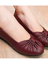 cheap -Women's Flats Low Heel PU(Polyurethane) Comfort Spring / Fall Black / Brown / Burgundy