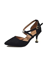 cheap -Women's Heels Low Heel Pointed Toe Rubber Comfort Spring Black / Beige