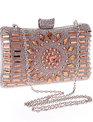 cheap -Women's Crystals / Glitter Alloy Evening Bag Geometric Pattern Silver / Blue / Light Gold
