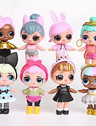 cheap -Tronzo 8Pcs/Bag Kawaii Boneca Animals Action Figure Lovely People Plastic Shell Anime Princess 8 pcs Adults' Boys' Girls' Toy Gift