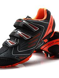 cheap -Tiebao® Mountain Bike Shoes Carbon Fiber Anti-Slip Cycling Black / Orange Men's Cycling Shoes / Hook and Loop