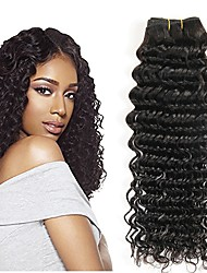 cheap -3 Bundles Indian Hair Wavy Human Hair Human Hair Extensions Natural Color Human Hair Weaves Extention Hot Sale Human Hair Extensions / 8A