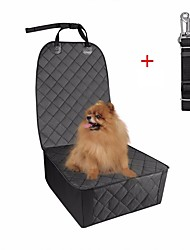 cheap -Dog Cat Pets Carrier Bag & Travel Backpack Car Seat Cover Waterproof Multi layer Foldable Pet Mats & Pads Oxford Fabric Solid Colored Classic Black
