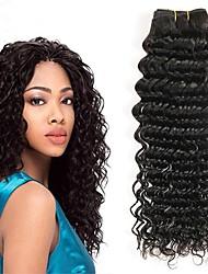 cheap -3 Bundles Mongolian Hair Deep Wave Human Hair Natural Color Hair Weaves / Hair Bulk Extension Bundle Hair 8-28 inch Natural Color Human Hair Weaves Women Extention Best Quality Human Hair Extensions
