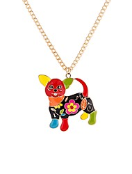 cheap -Men's Pendant Necklace Dog Animal Rainbow Fashion Oversized Acrylic Rainbow 65 cm Necklace Jewelry For Party Carnival