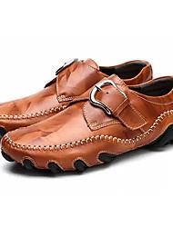 abordables -Homme Chaussures de conduite Cuir Printemps / Automne Oxfords Noir / Rouge Foncé / Brun claire