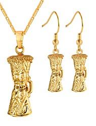 Недорогие -Жен. Серьги-кольца Ожерелья с подвесками Дамы Мода Серьги Бижутерия Золотой Назначение Повседневные