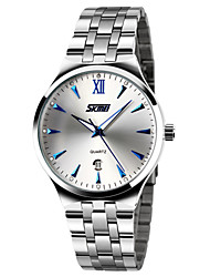 cheap -SKMEI Men's Dress Watch Quartz Elegant Water Resistant / Waterproof Stainless Steel Silver Analog - Blue / Calendar / date / day / Noctilucent