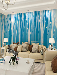 cheap -Customized Cartoon Blue and White Tree 3D Large Wall Covering Mural Wallpaper Suitable Bedroom Restaurant Children