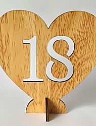 cheap -Wooden Table Center Pieces - Non-personalized Placecard Holders Trim 20pcs All Seasons