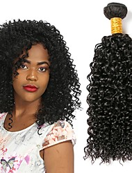 cheap -1 Bundle Malaysian Hair Curly Human Hair Gifts / Natural Color Hair Weaves / Costume Accessories 8-28 inch Human Hair Weaves Machine Made Gift / Party / Best Quality Black Human Hair Extensions Unisex