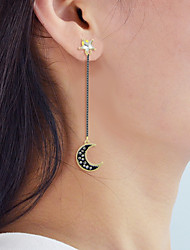 cheap -Drop Earrings Mismatched Moon Star Ladies Earrings Jewelry Gold For Daily Date