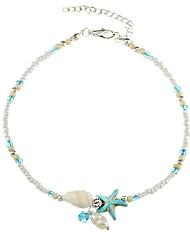 cheap -Women's Bead Bracelet Starfish Ladies Ethnic Stone Bracelet Jewelry Light Blue For Gift Daily