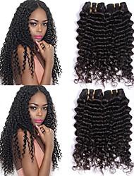 cheap -6 Bundles Brazilian Hair Wavy Human Hair Human Hair Extensions Natural Color Human Hair Weaves Extention Hot Sale Human Hair Extensions / 8A