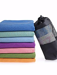 Недорогие -Полотенце для йоги Без запаха Экологичные Противоскользящий Микроволокно для Йога Пилатес Бикрам-йога 27.0*22.0*10.0 cm Фиолетовый Светло-синий Светло-Розовый
