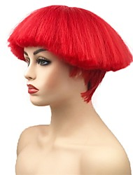 cheap -synthetic wig straight short bob natural hairline red women s machine made celebrity wig party wig cosplay wig short synthetic hair party Halloween