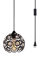 cheap -1-Light CXYlight 20 cm Crystal Pendant Light Metal Painted Finishes Retro Vintage / Country 110-120V / 220-240V