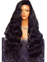 cheap -Virgin Human Hair Full Lace Wig Layered Haircut style Brazilian Hair Wavy Body Wave Black Wig 180% Density with Baby Hair For Black Women Women's Short Medium Length Long Human Hair Lace Wig Aili