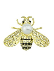 cheap -Women's Pearl Brooches Bee Ladies Basic Fashion Brooch Jewelry Gold For Daily Date
