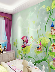 cheap -Customized Cartoon Leaf Cottage 3D Large Wallcovering Mural Wallpapers Fitted Bedroom Restaurant Children