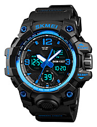 cheap -SKMEI Men's Sport Watch Japanese Digital 50 m Water Resistant / Water Proof Alarm Chronograph PU Band Analog-Digital Casual Fashion Black / Brown / Green - Green Blue Camouflage Brown One Year