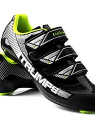 cheap -Tiebao® Road Bike Shoes Carbon Fiber Anti-Slip Cycling Black / Yellow Men's Cycling Shoes / Breathable Mesh / Hook and Loop