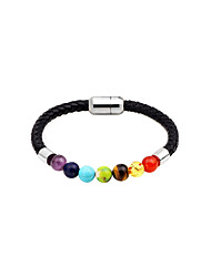 cheap -Women's Agate Bead Bracelet Leather Bracelet Ladies Fashion Agate Bracelet Jewelry Gold / Black / Rainbow For Daily Date