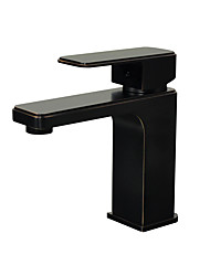 cheap -Bathroom Sink Faucet - Widespread Oil-rubbed Bronze Centerset Single Handle One HoleBath Taps