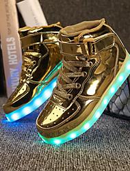 cheap -Boys / Girls USB Charging  LED / LED Shoes PU Sneakers Little Kids(4-7ys) / Big Kids(7years +) LED Black / White / Gold Summer / Wedding / TR
