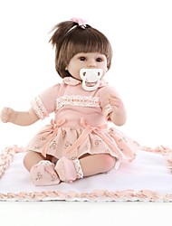 cheap -18 inch Reborn Doll Baby Girl Newborn lifelike Non Toxic Hand Applied Eyelashes Tipped and Sealed Nails with Clothes and Accessories for Girls' Birthday and Festival Gifts