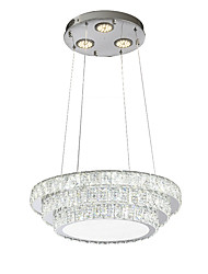 cheap -ZHISHU Circular Chandelier Downlight Chrome Metal Crystal, Mini Style, Multi-shade 220-240V Warm White+White LED Light Source Included / LED Integrated