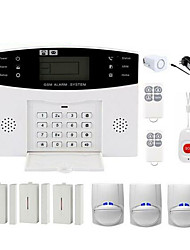 cheap -CS85 Wireless WIFI Home Burglar Alarm Systems GSM Platform GSM Remote Controller 433 Hz DIY Kit Smart Security Protection Light / Sound Alarms Apparatus for Home