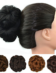 cheap -Hair Accessory Flowers Hair Bun Sexy Lady Drawstring Synthetic Hair Hair Piece Hair Extension Flowers Auburn / Dark Brown / Dark Auburn / Dark Brown / Medium Auburn