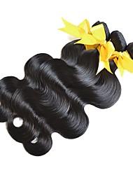 Недорогие -3 Связки Монгольские волосы Естественные кудри Не подвергавшиеся окрашиванию 150 g Распродажа брендовых товаров Черный Естественный цвет Ткет человеческих волос / 10A
