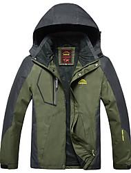 cheap -Men's Hiking Jacket Winter Outdoor Windproof Breathable Rain Waterproof Waterproof Zipper Winter Jacket Top Waterproof Full Length Visible Zipper Camping / Hiking Climbing Cycling / Bike Royal Blue